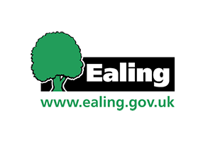 ealing council logo in green and black